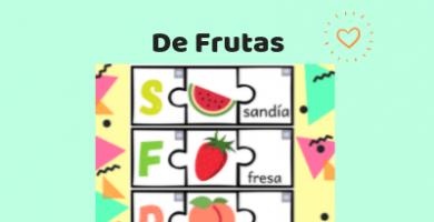 rompecabezas de frutas para imprimir