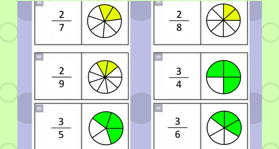 Rompecabezas de Fracciones tercer grado